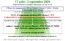 30ème Tournoi homologué par la FFT du 17 août au 2 septembre